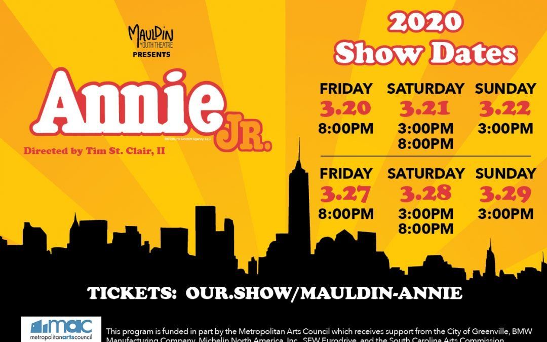 Annie, JR. | Mauldin Youth Theatre