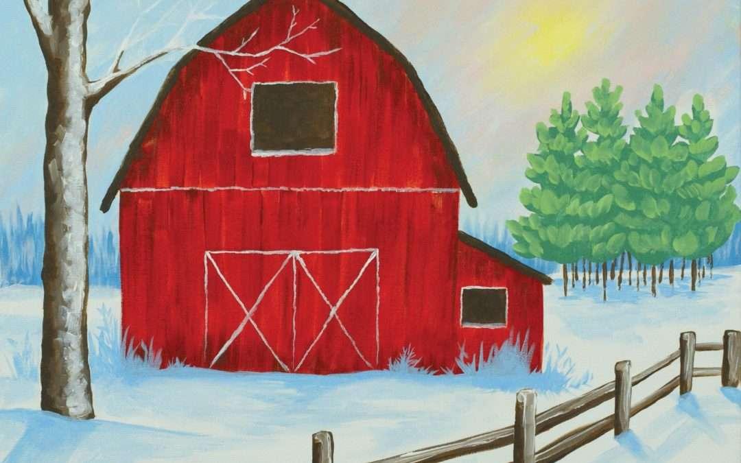 Winter Farm Paint & Sip Party
