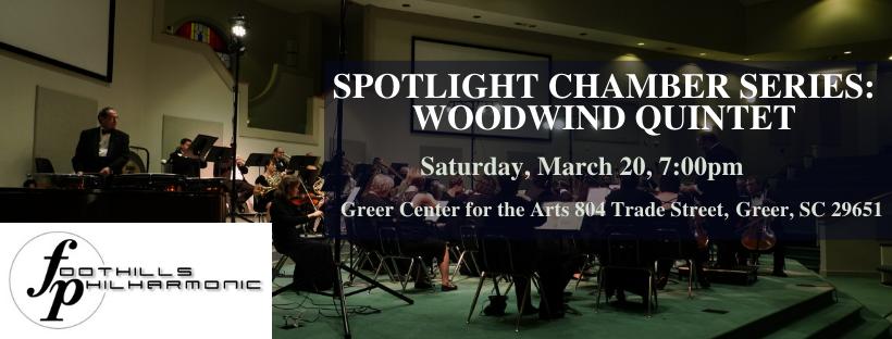 Foothills Philharmonic Woodwind Quintet Concert