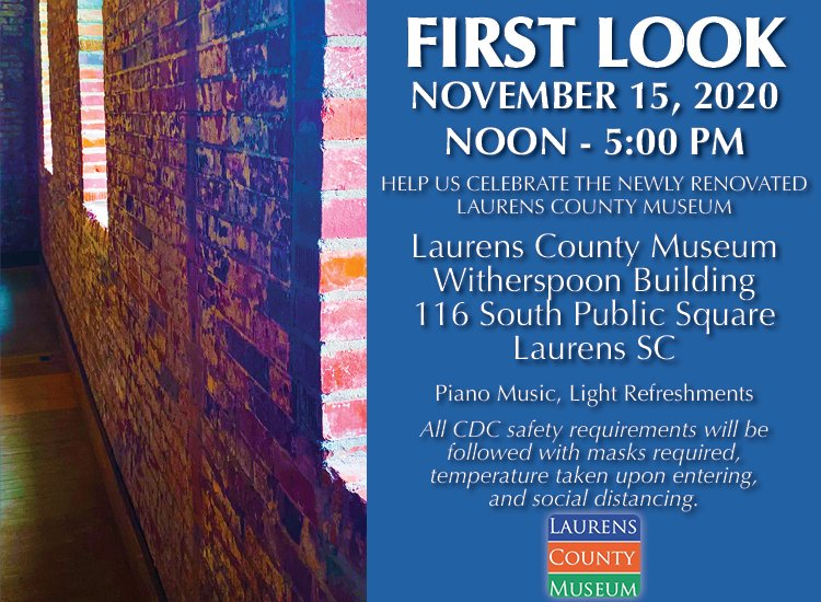 """Laurens County Museum """"First Look"""""""